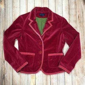 Boden pink or fuchsia velvet blazer WE170